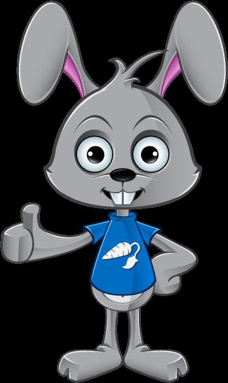 Cartoon Rabbit - Giving A Thumbs Up