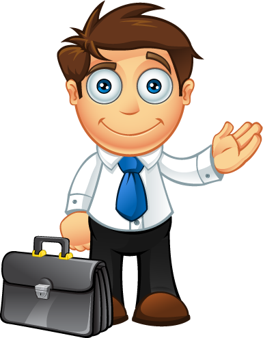 Blue Tie Business Man - Presenting